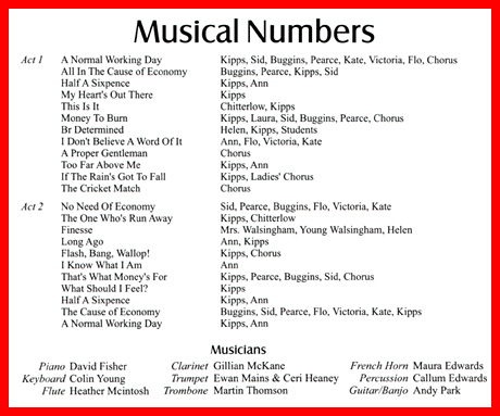 What are musical numbers?